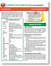 Evernote for Genealogy Quick Reference Guide