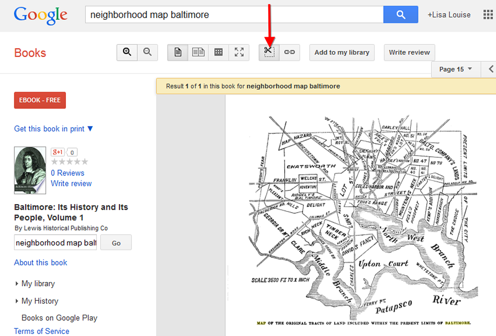 Google Image search for maps google books