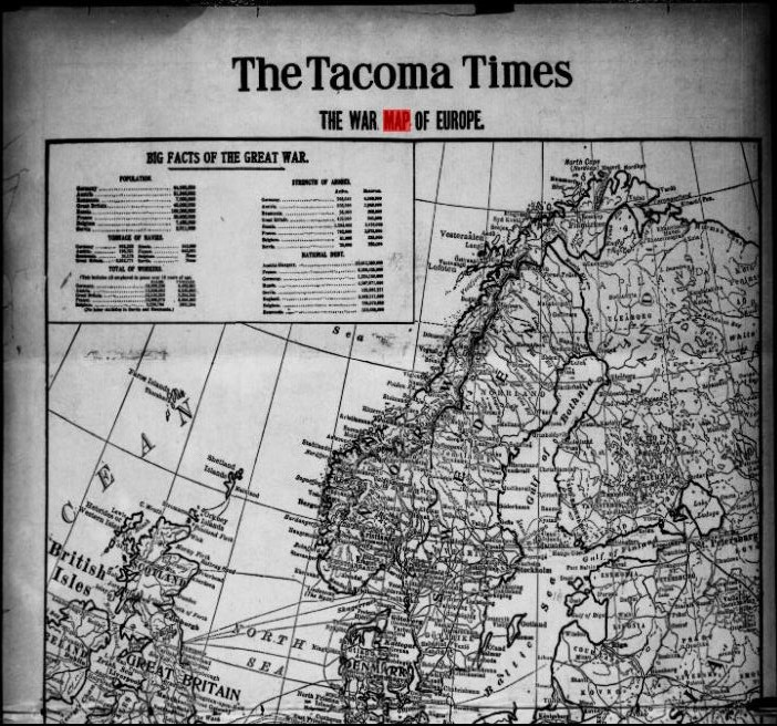 The Tacoma Times, August 22, 1914. Image from Chronicling America. Click on image to visit webpage.