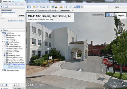 Alvie Google Earth for genealogy problem