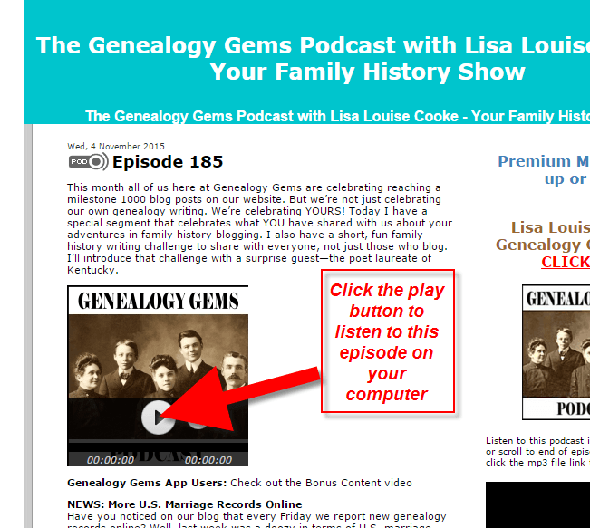genealogy gems podcast how to 4