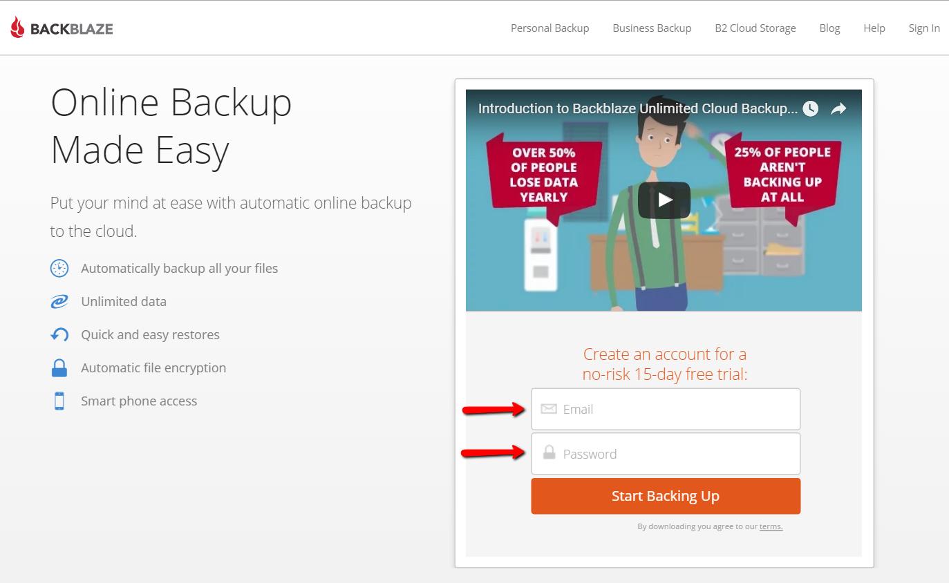 How to download Backblaze