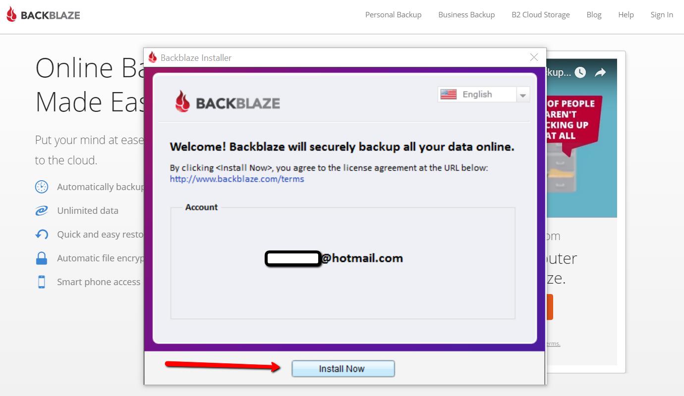 Download backblaze