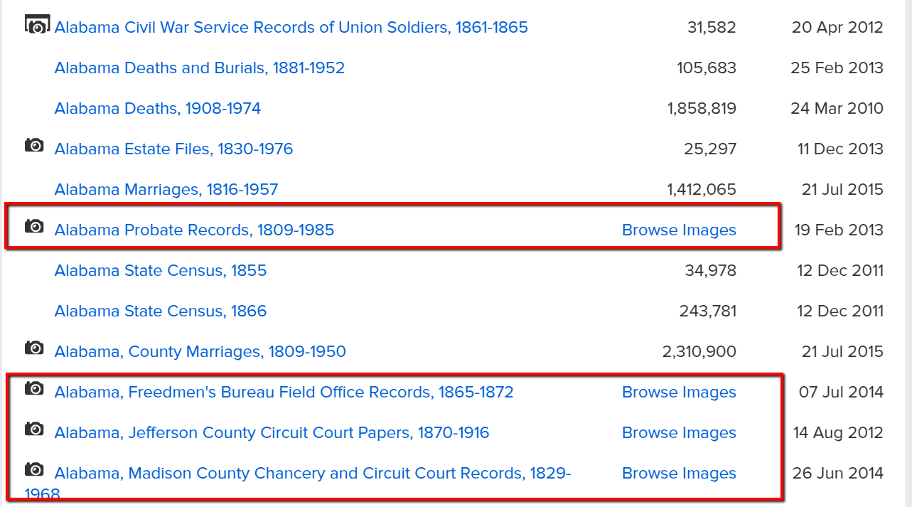 Browse Only Databases at FamilySearch are Easy to Use