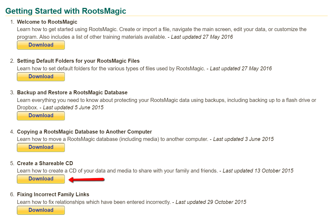 RootsMagic downloadable guides