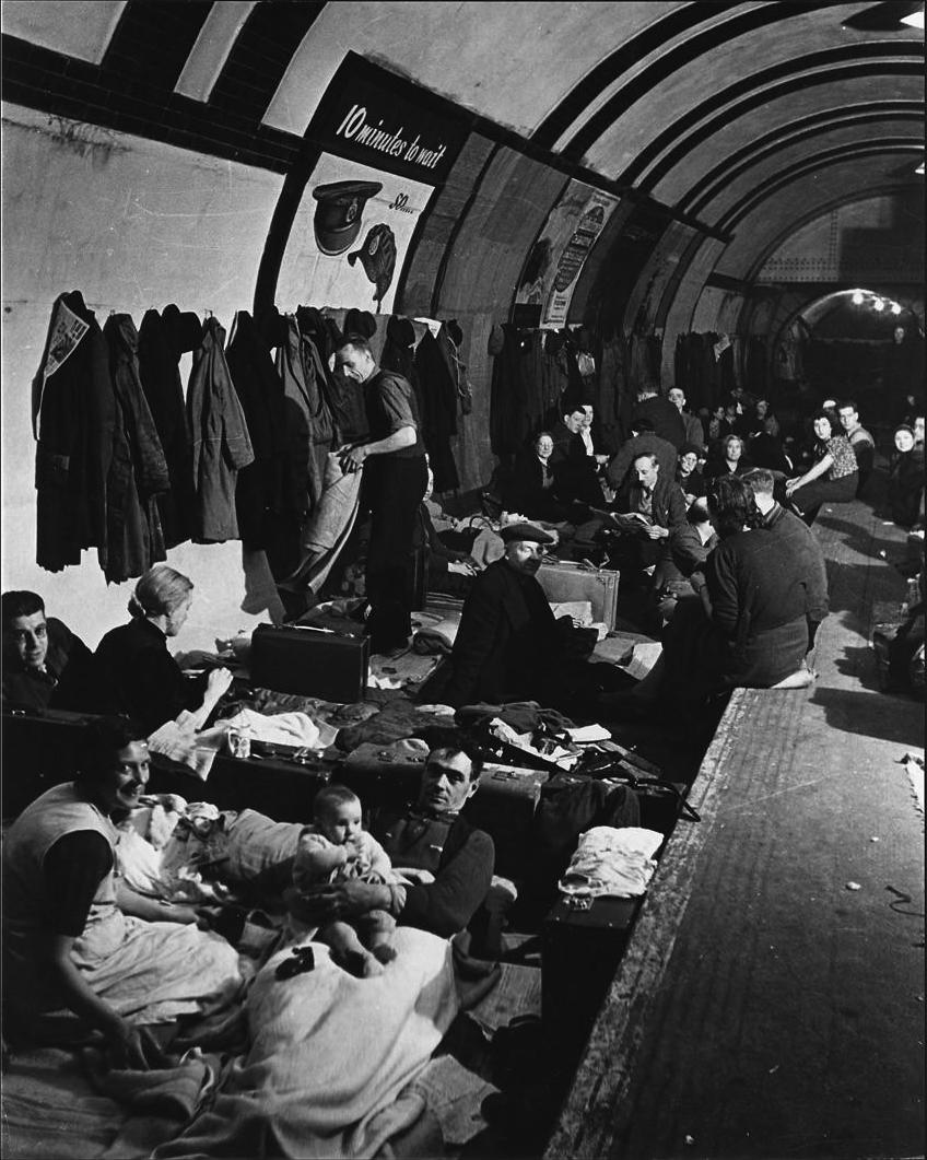 Blitz_West_End_Air_Shelter WWII photos