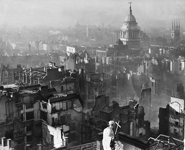 View_from_St_Paul's_Cathedral_after_the_Blitz WWII photos