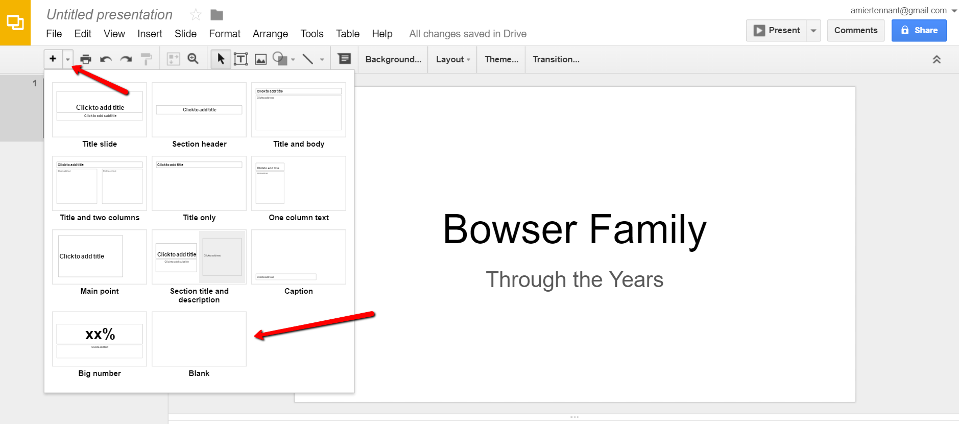 Add Google Slides for Genealogy