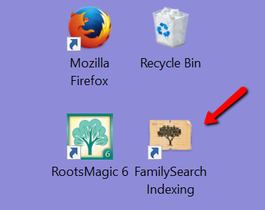 FamilySearch indexing icon