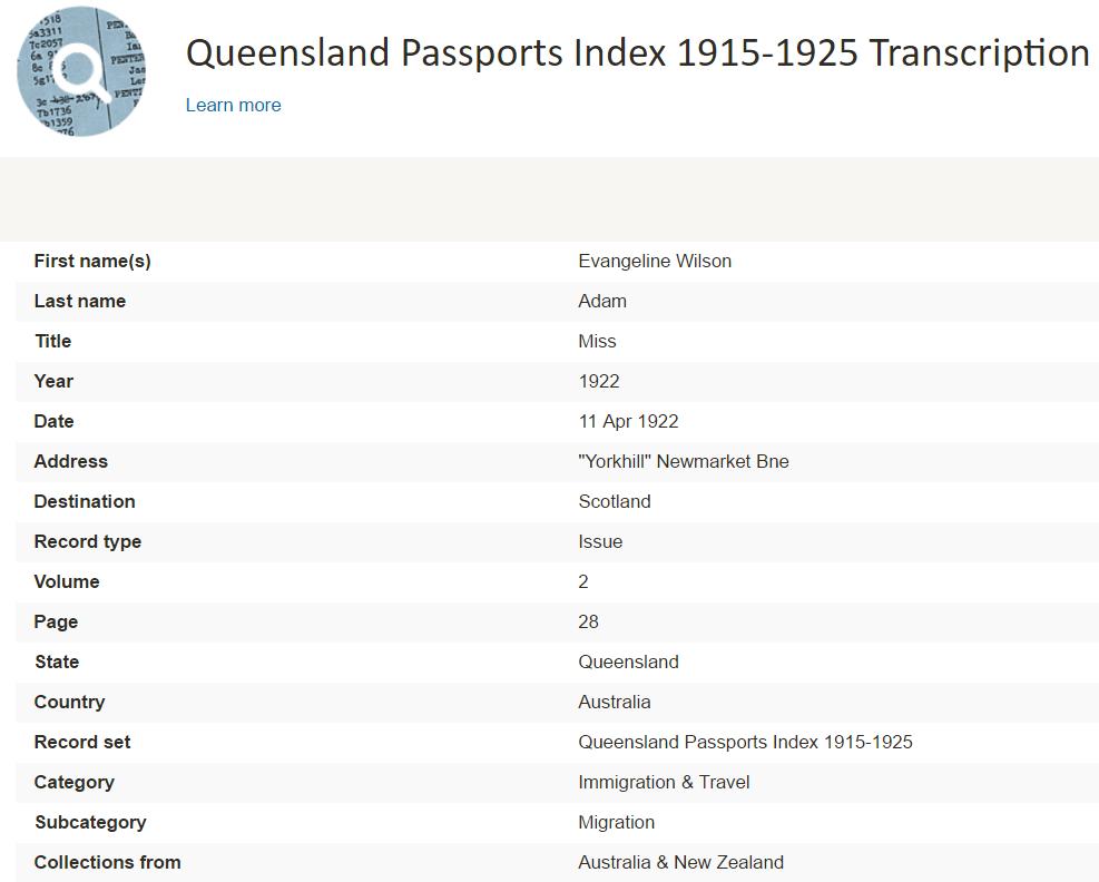 passport records