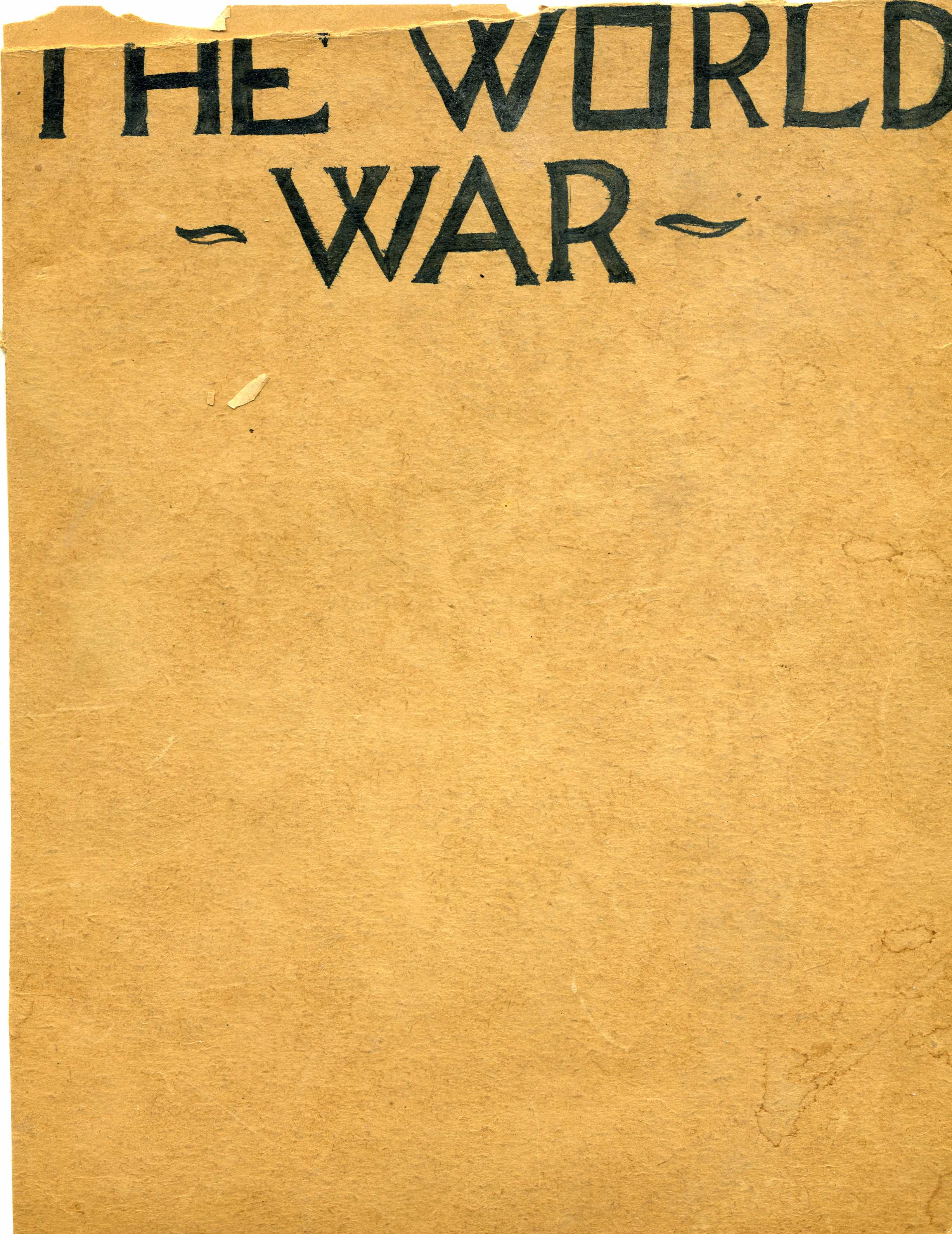 World War I - Magazine cover