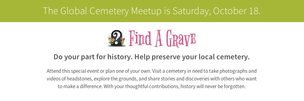 Find A Grave Community Day