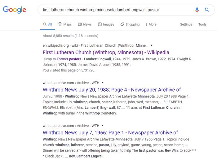 Googling the pastor