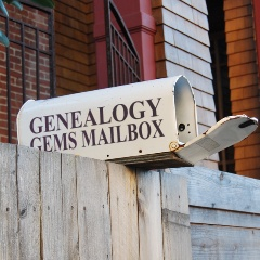 Genealogy Gems Podcast mailbox image