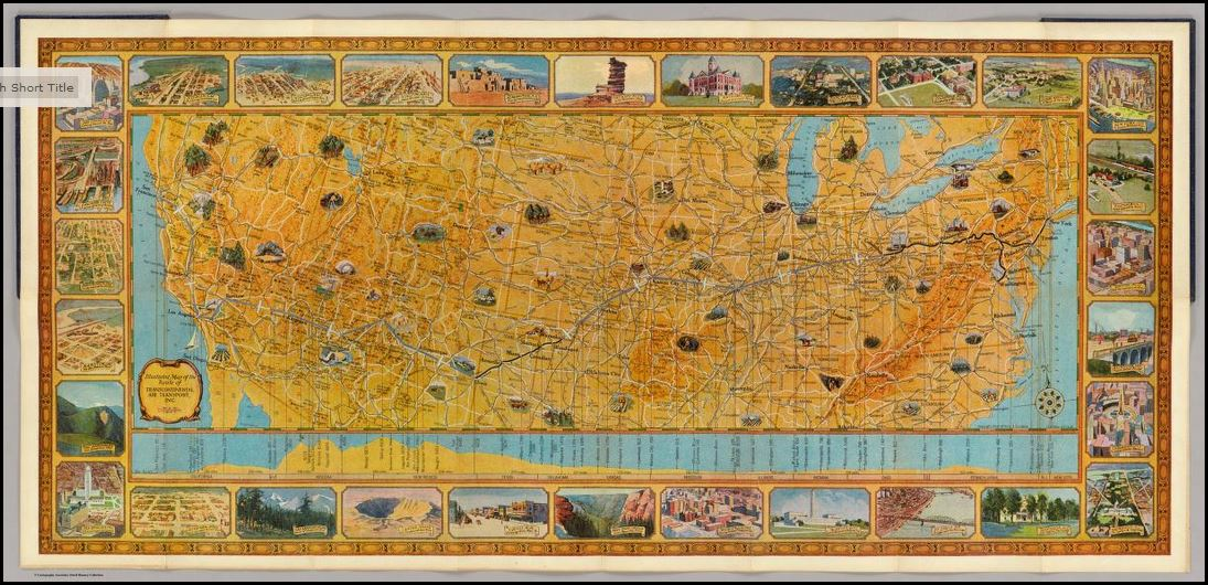 David Rumsey Shares Souvenir Map for Early Airline Passengers | Genealogy Gems