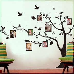 Heritage decor genealogy gems for Diy family tree wall mural