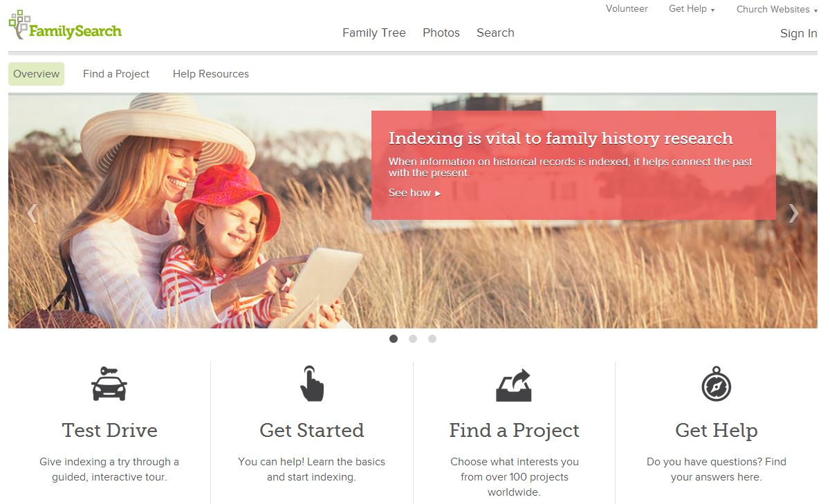 New FamilySearch Indexing Website Launches