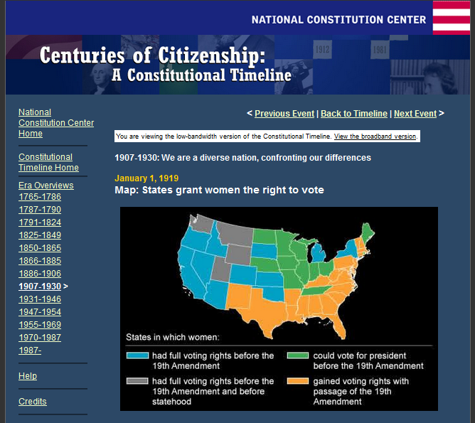 Check out this interactive timeline on women's right to vote in the U.S.