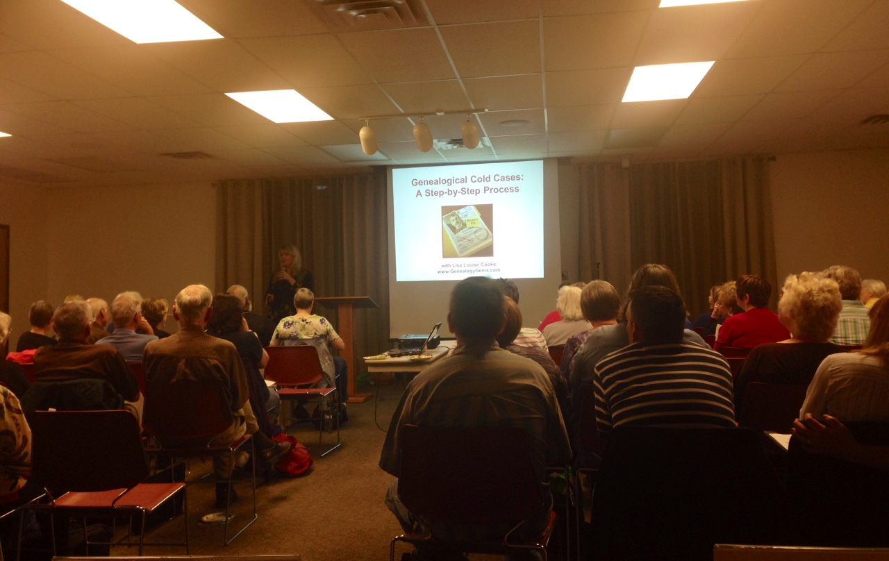 Genealogy presentation at Williamson County Texas Genealocial Society