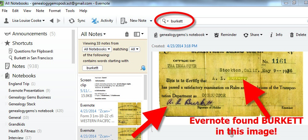 Using Evernote for Genealogy: You are One of Evernote's 100 Million Users!