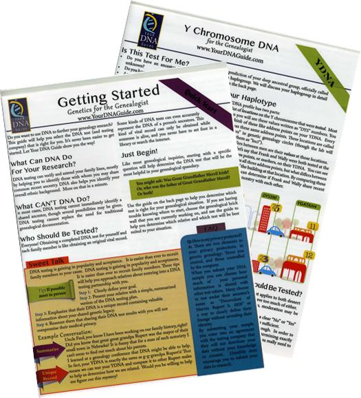 DNA for Genealogy Quick Reference Guide Bundle by Diahan Southard