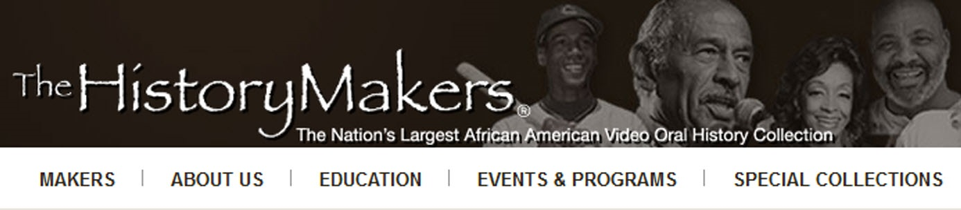History Makers Archive website