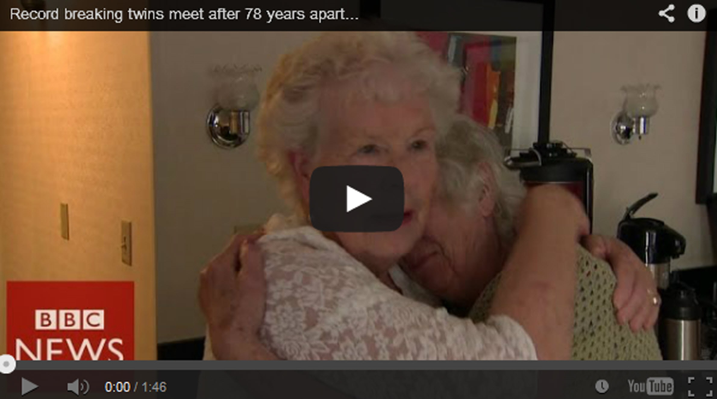 Twins Reunited 78 Years After Separation at Birth