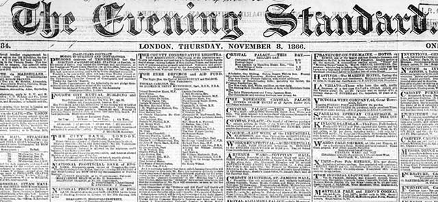 London Standard British Newspaper Archive