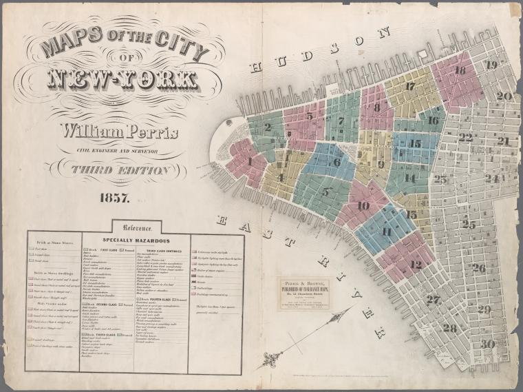 Map of New York City, 1857. Click for full citation information.