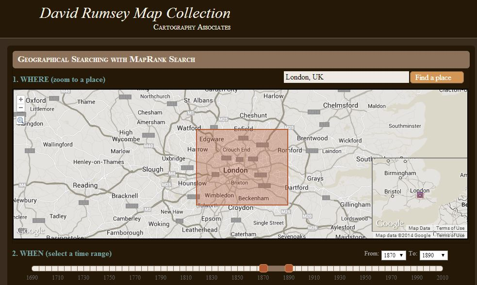 David Rumsey London 1870 1890 screenshot