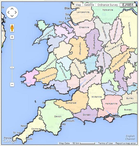 Map Of England Parishes.English Parish Boundaries A Little Known Online Tool Genealogy Gems