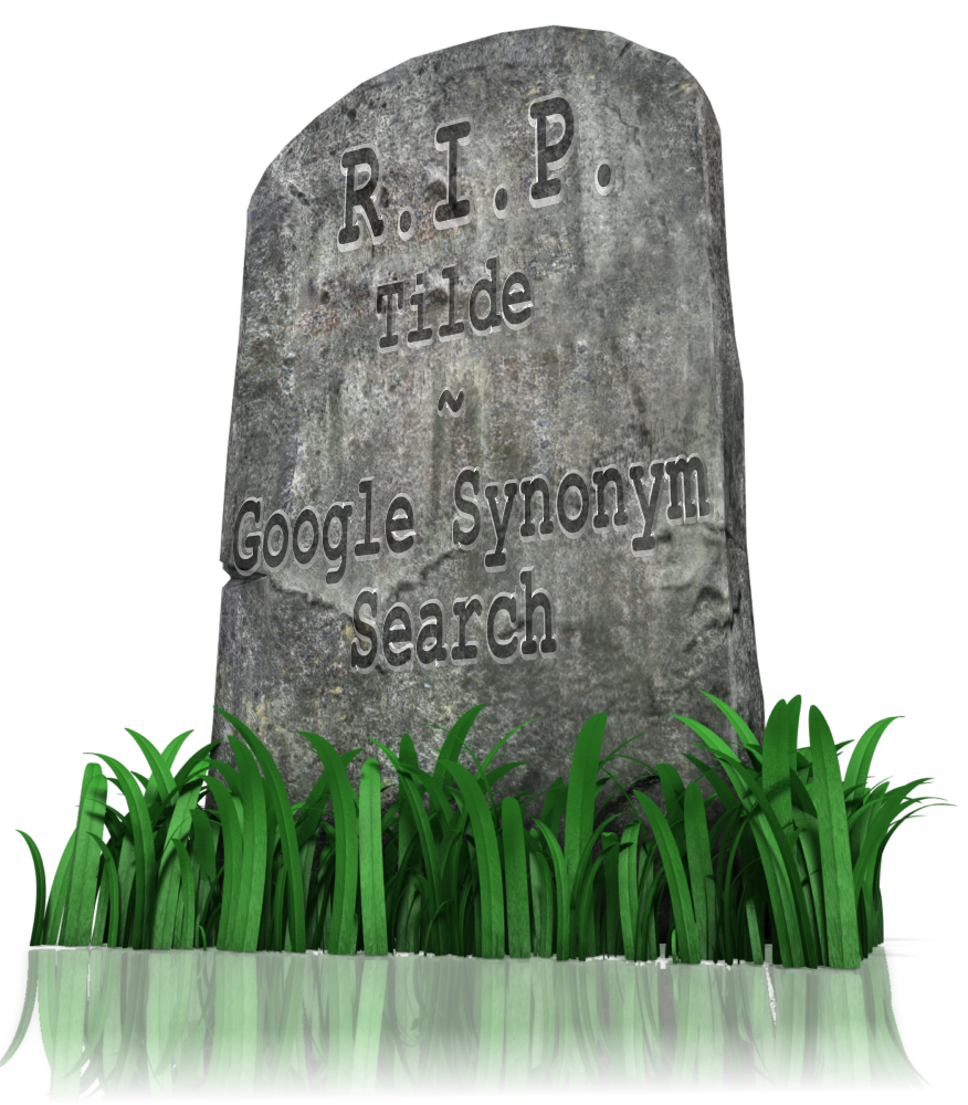 Google Search Operator tilde synonym
