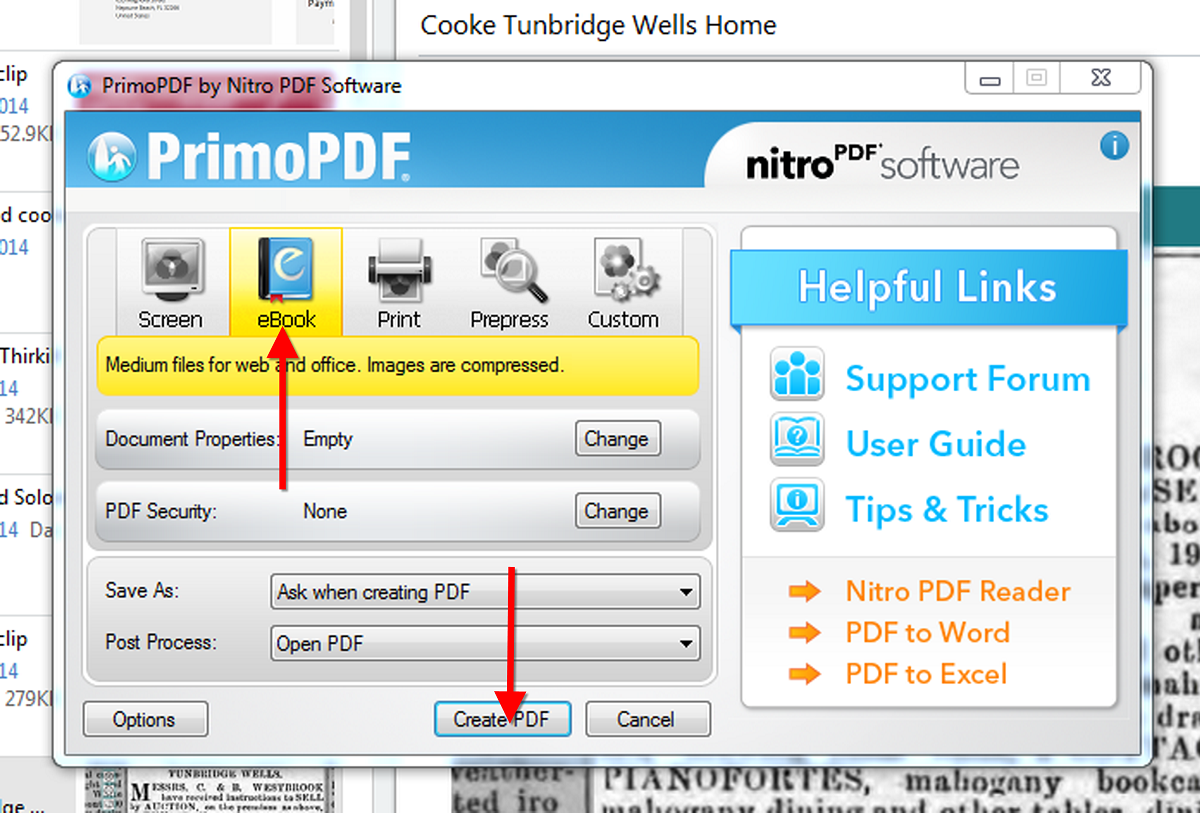 here s a cool way to export a web clipping note from evernote using primopdf to export a note from evernote as a pdf