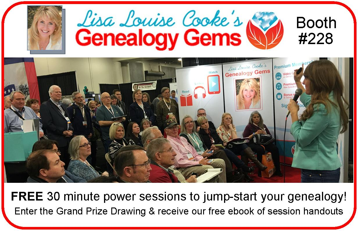 NGS 2016: FREE Lectures at the Genealogy Gems Booth