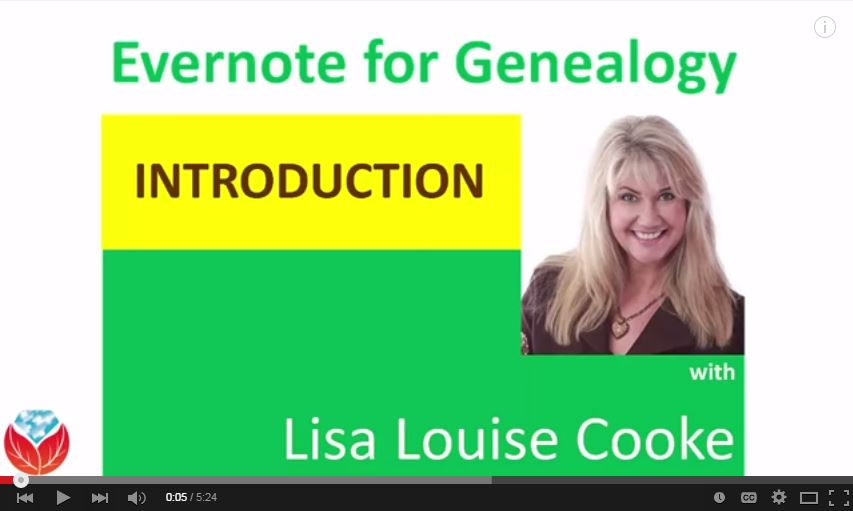 NEW Evernote for Genealogy Video Series