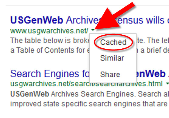 How to Make Google Cache Pay Off in Your Genealogy Research