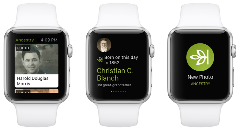 Ancestry app Apple Watch