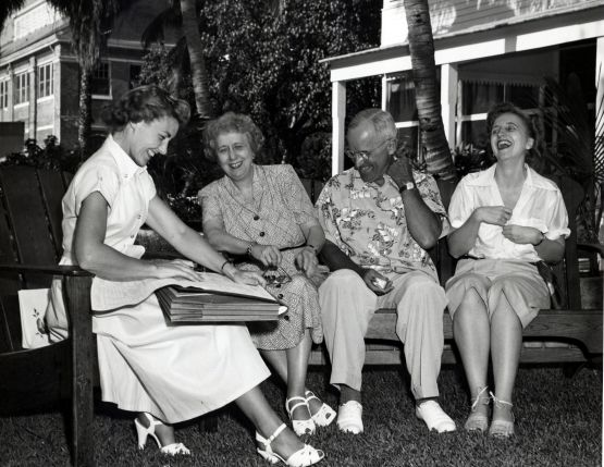 An enumerator interviews President Truman and the First Family for the 1950 Census. Image from www.census.gov.