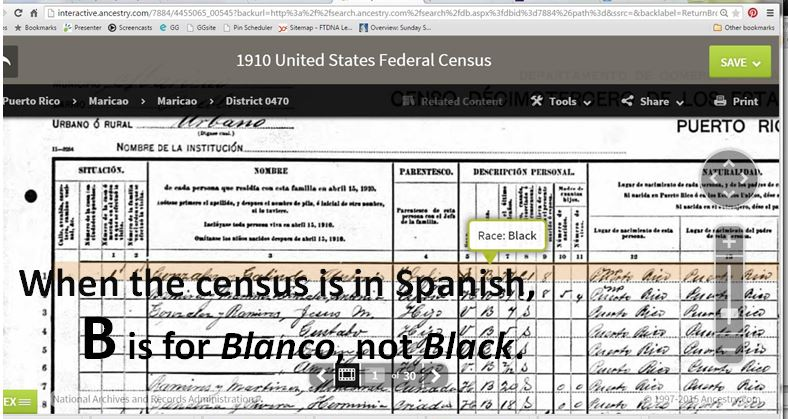 The 1910 Census in Puerto Rico: A Surprising Lesson on Using Census Records for Genealogy