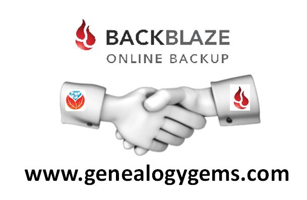 Backblaze Joins the Genealogy Gems Community | Genealogy Gems