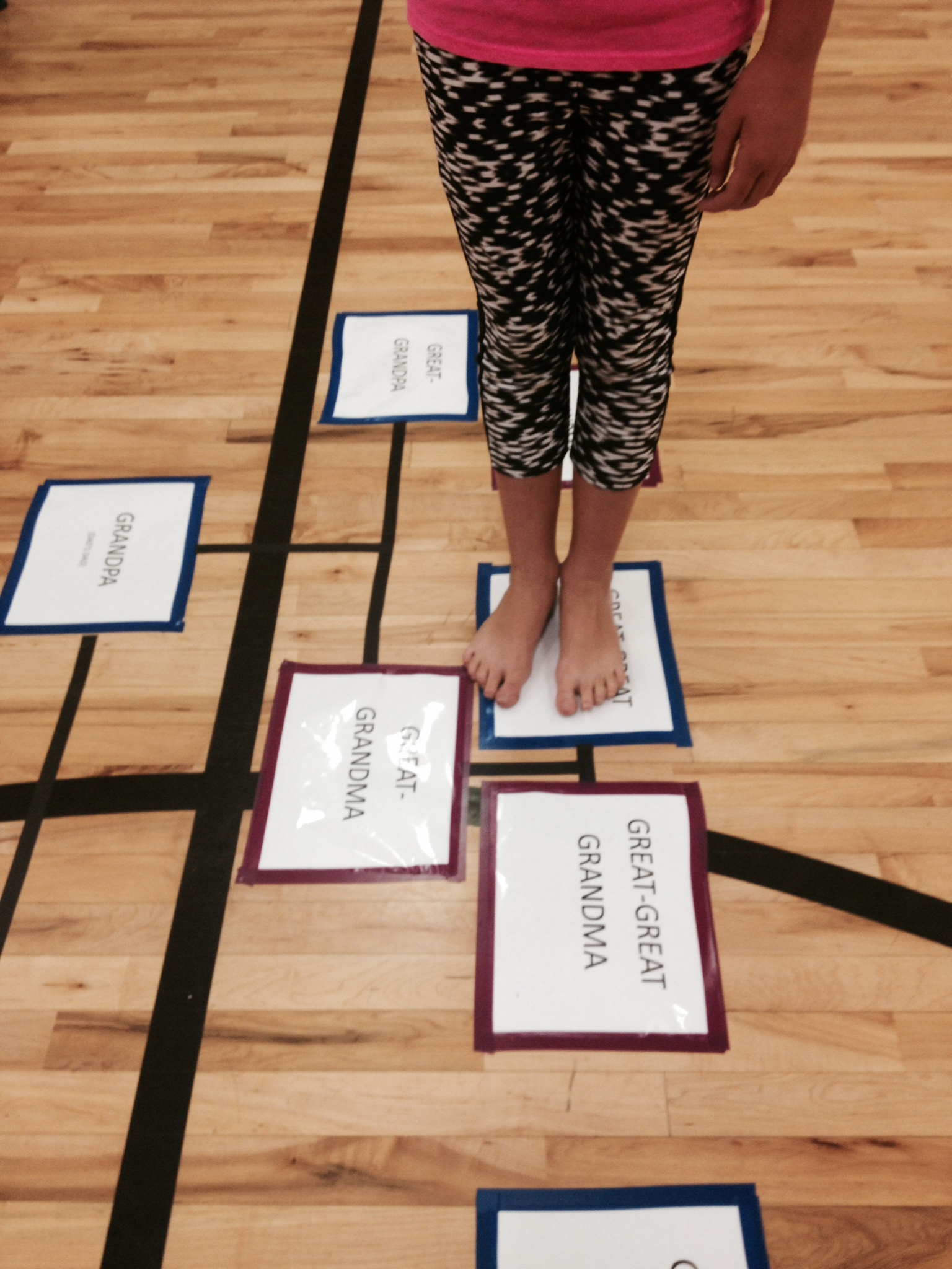 Need Family Reunion Ideas? Family Tree Hopscotch