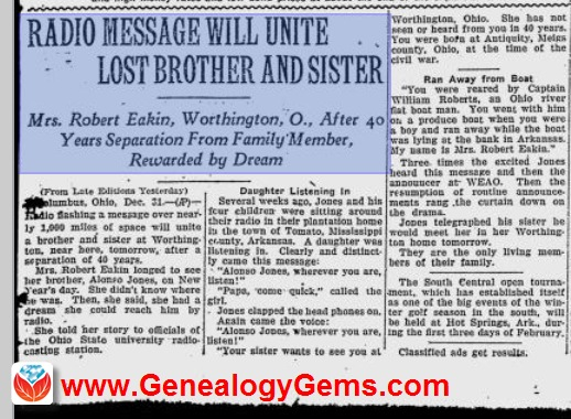 Technology United These Long-Lost Siblings 90 Years Ago!