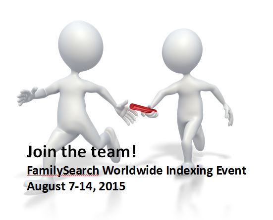 Join the Family History Relay Race: FamilySearch Worldwide Indexing Event