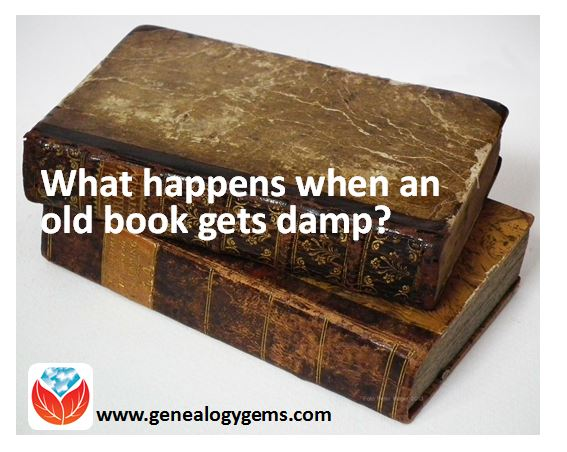 book gets damp