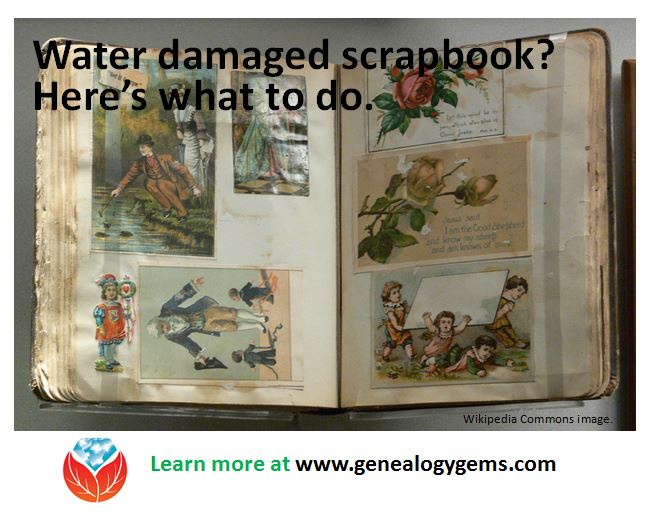 What To Do If a Scrapbook Gets Wet (or Photo Album or Pictures)