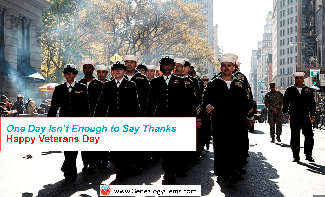 """It's Veterans Day: """"One Day is Not Enough"""" To Say Thank You"""