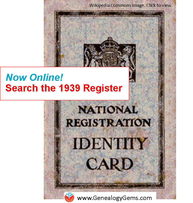 NEW!! Access the 1939 Register Online at Findmypast
