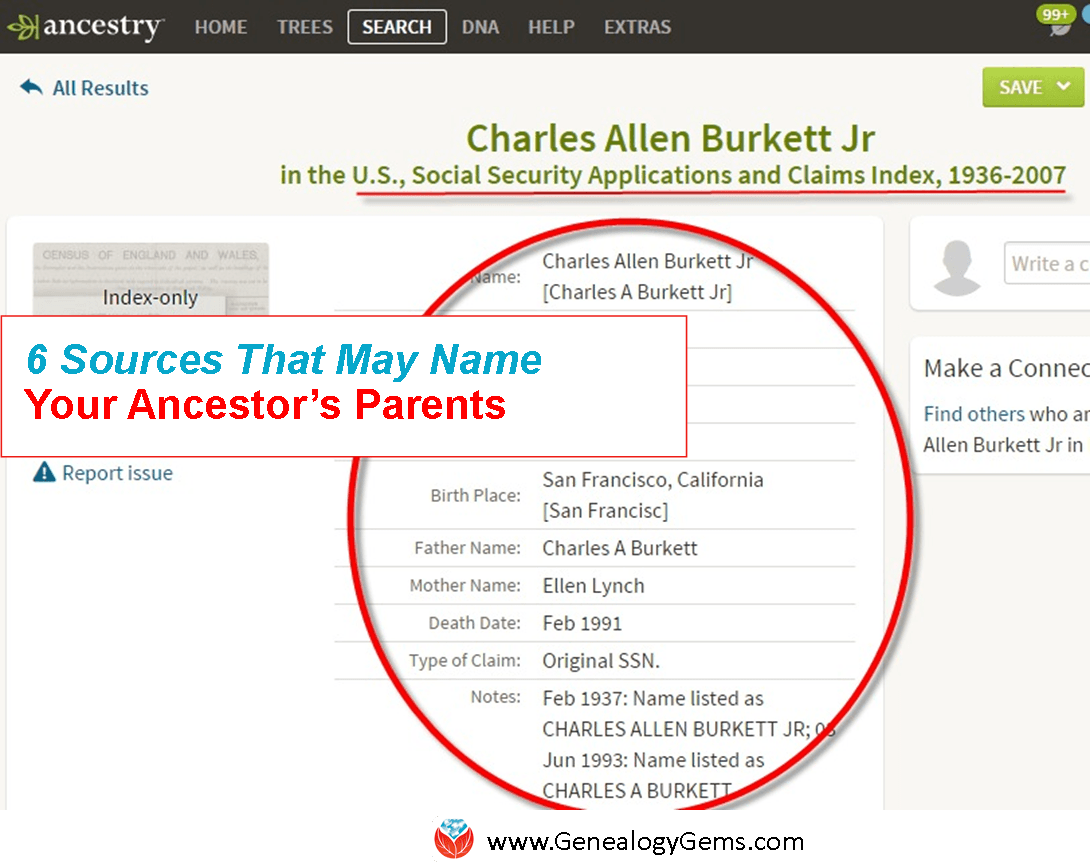 How to find ancestors by name 59