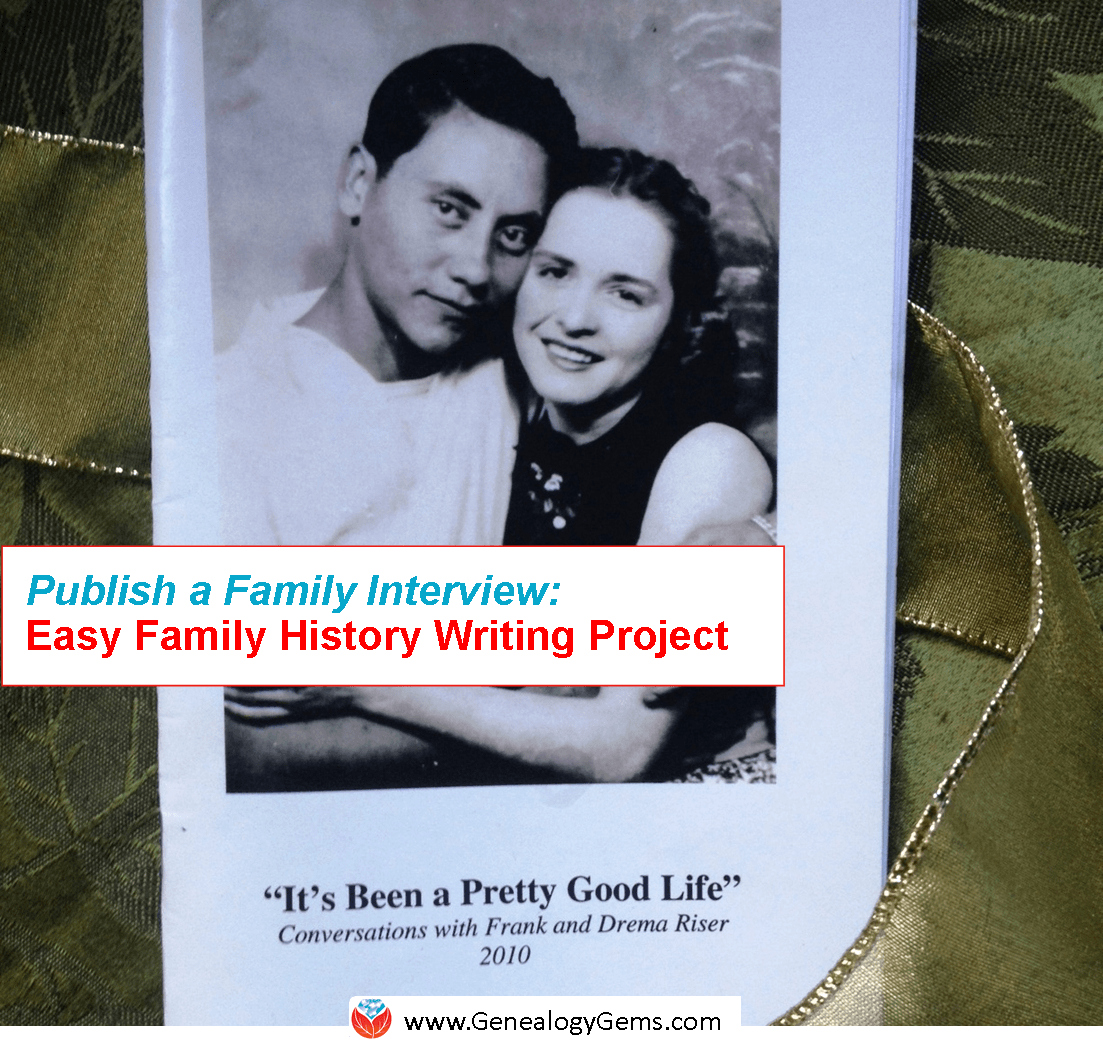easy project to write your family history publish a q a genealogy
