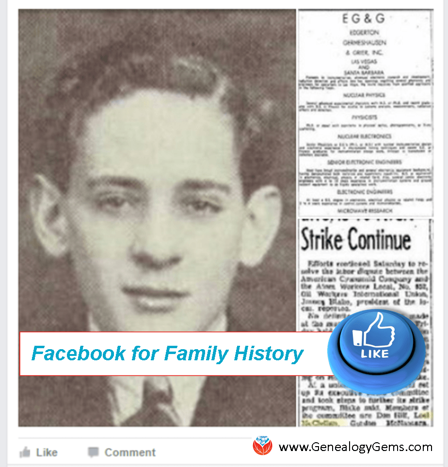 facebook family history crowdsource memories